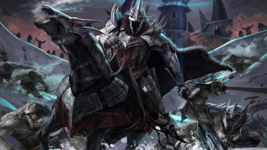 Arts lord of the rings battle mountain sauron laslolf wallpaper
