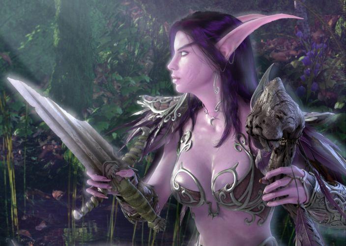 Arts night elf teldrassil chest a shard of the sword warcraft wow wallpaper