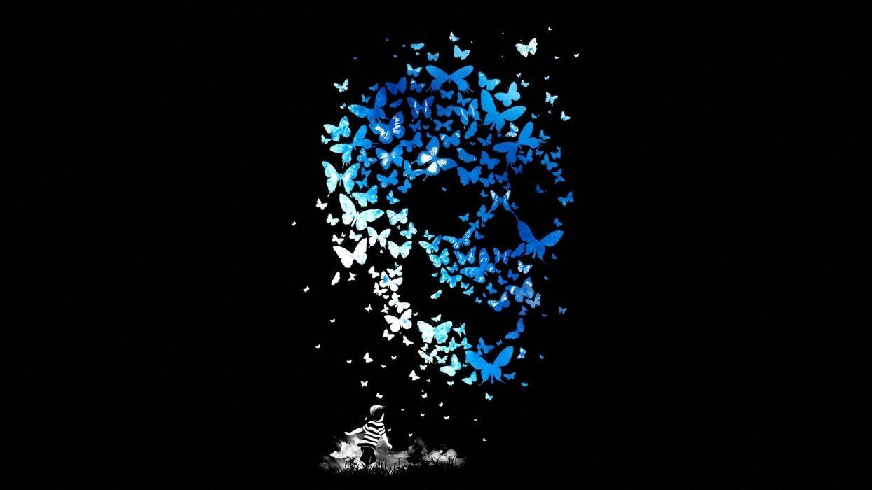 Arts skull kid butterfly matheus lopes castro child mathiole wallpaper