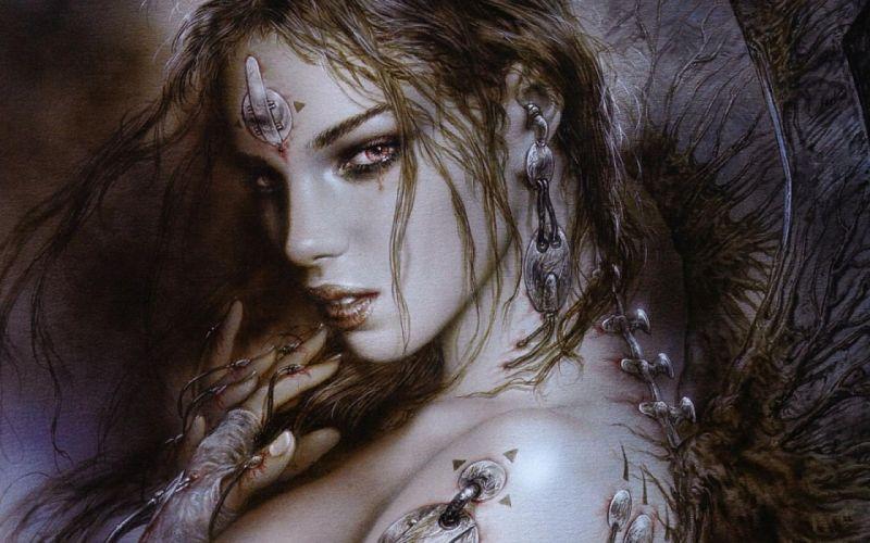 Arts warrior Luis Royo girl fantasy wallpaper