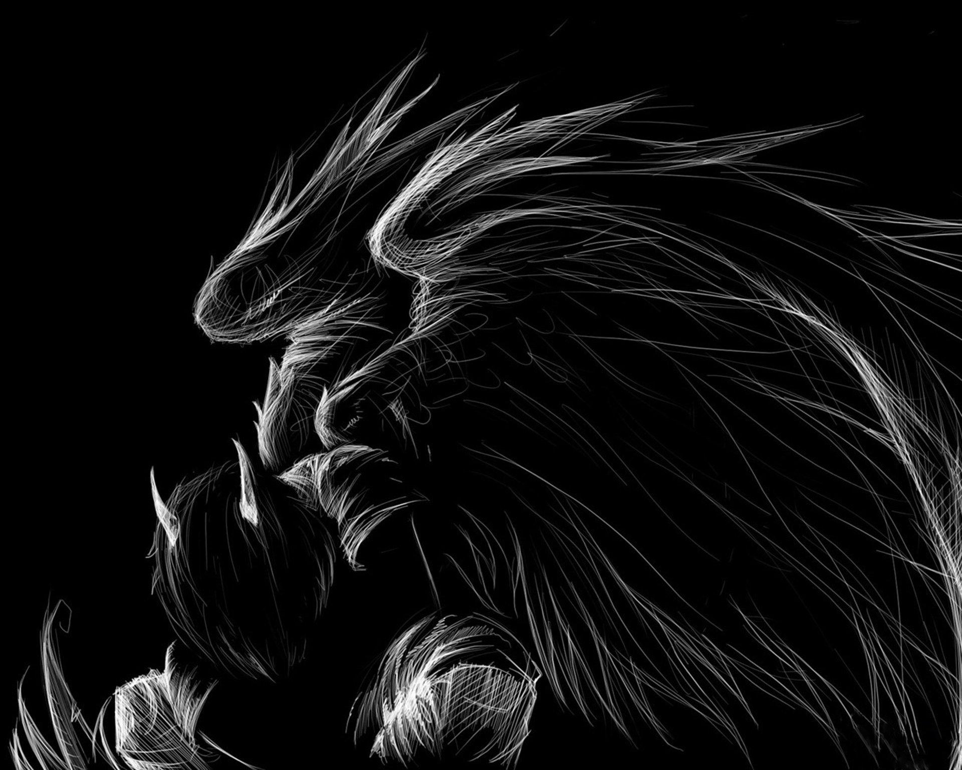 black and white wings dark angel horns wallpaper