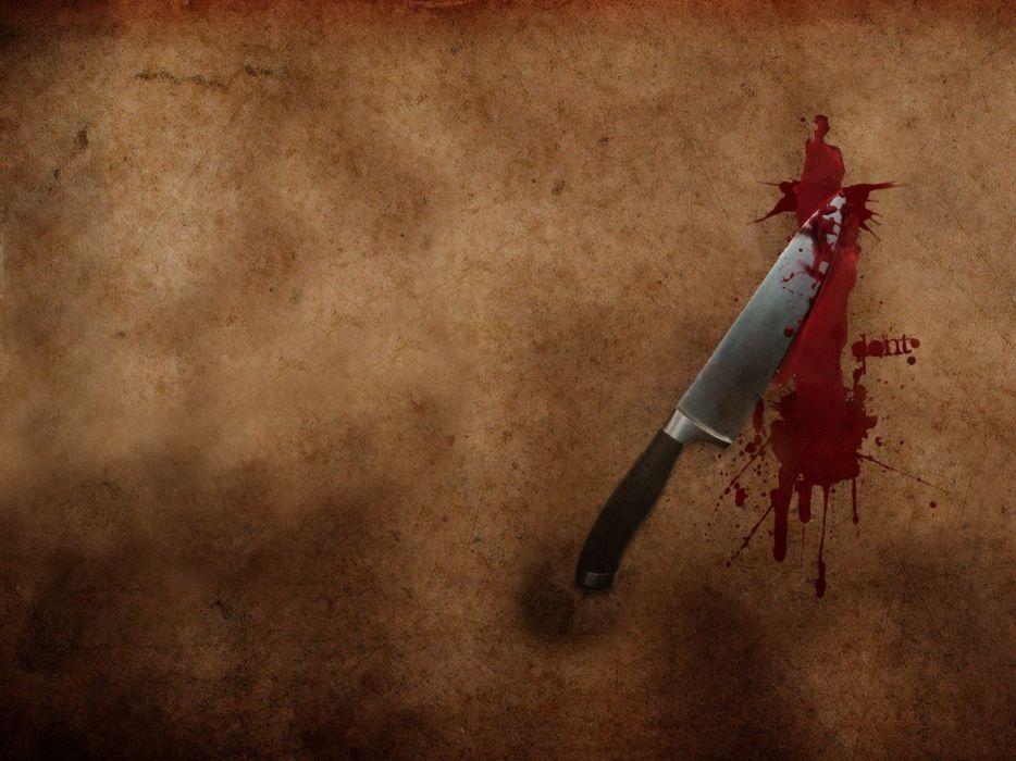Weapons knife blood minimalism wallpaper