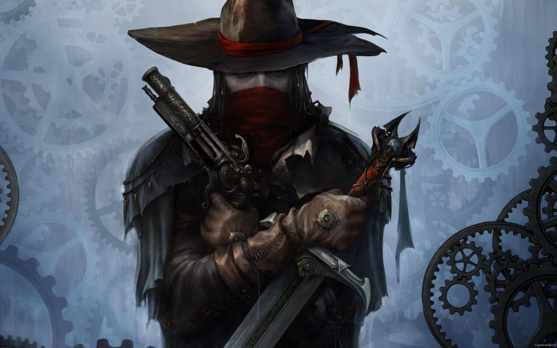 INCREDIBLE ADVENTURES VAN HELSING dark action fantasy rpg shooter 1iavh vampire gothic noir warrior horror wallpaper