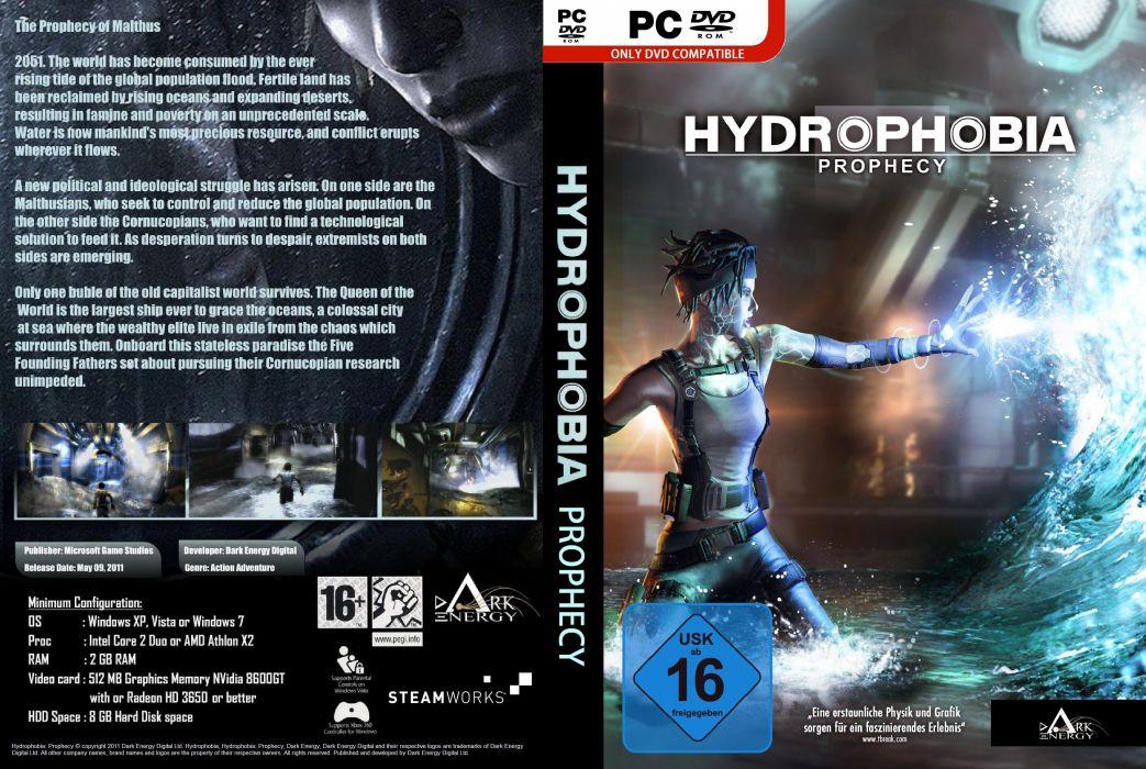 HYDROPHOBIA PROPHECY survival horror adventure 1hprop sci-fi futuristic action dark poster wallpaper