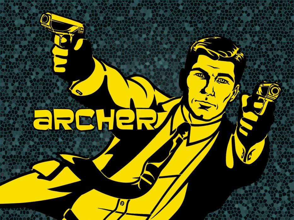ARCHER animation series cartoon action adventure comedy spy crime poster wallpaper