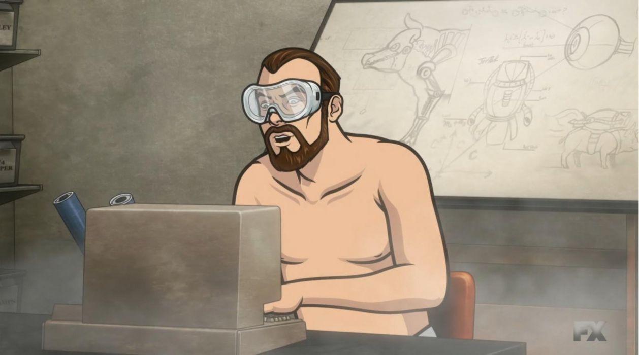 ARCHER animation series cartoon action adventure comedy spy crime wallpaper