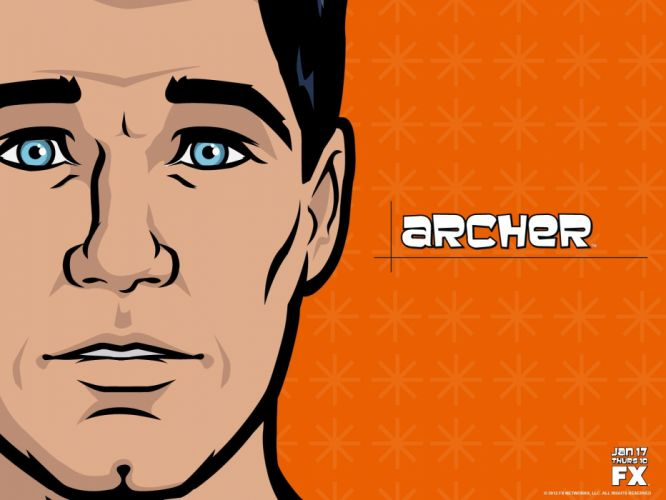 ARCHER animation series cartoon action adventure comedy spy crime poster wallpaper