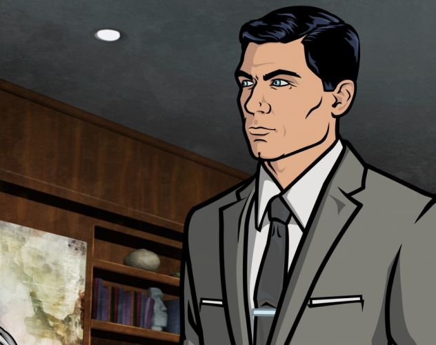 ARCHER animation series cartoon action adventure comedy spy crime wallpaper