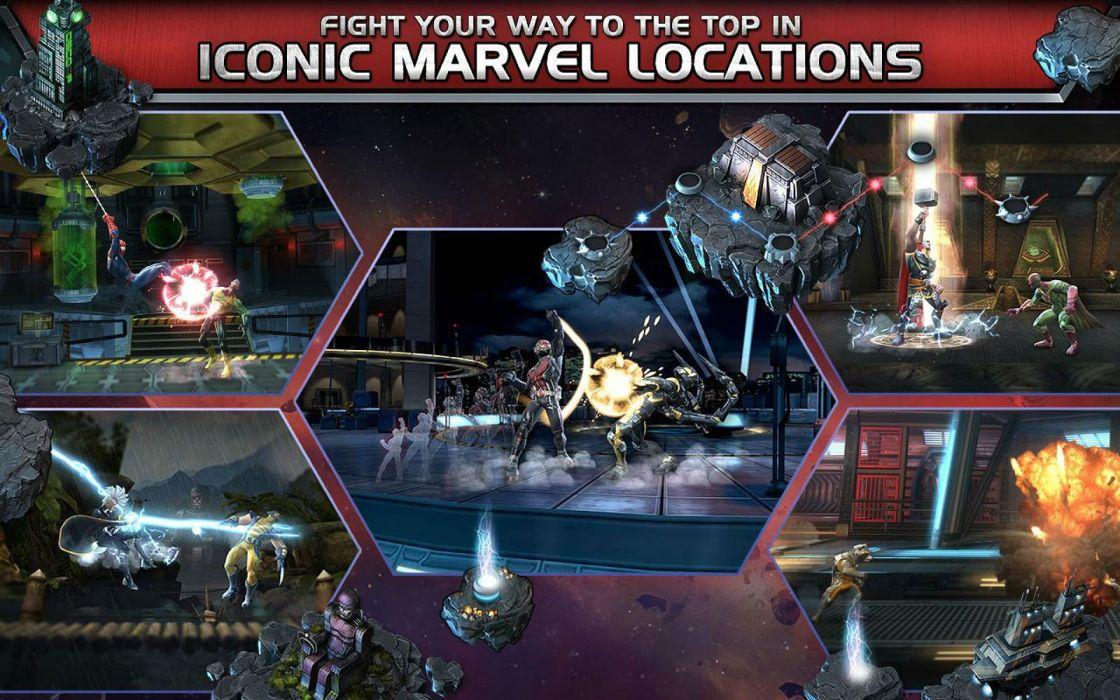 MARVEL CONTEST CHAMPIONS superhero action fighting arena hero warrior 1mcc poster wallpaper