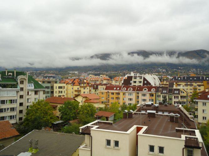Sofia Bulgaria Rainy day wallpaper