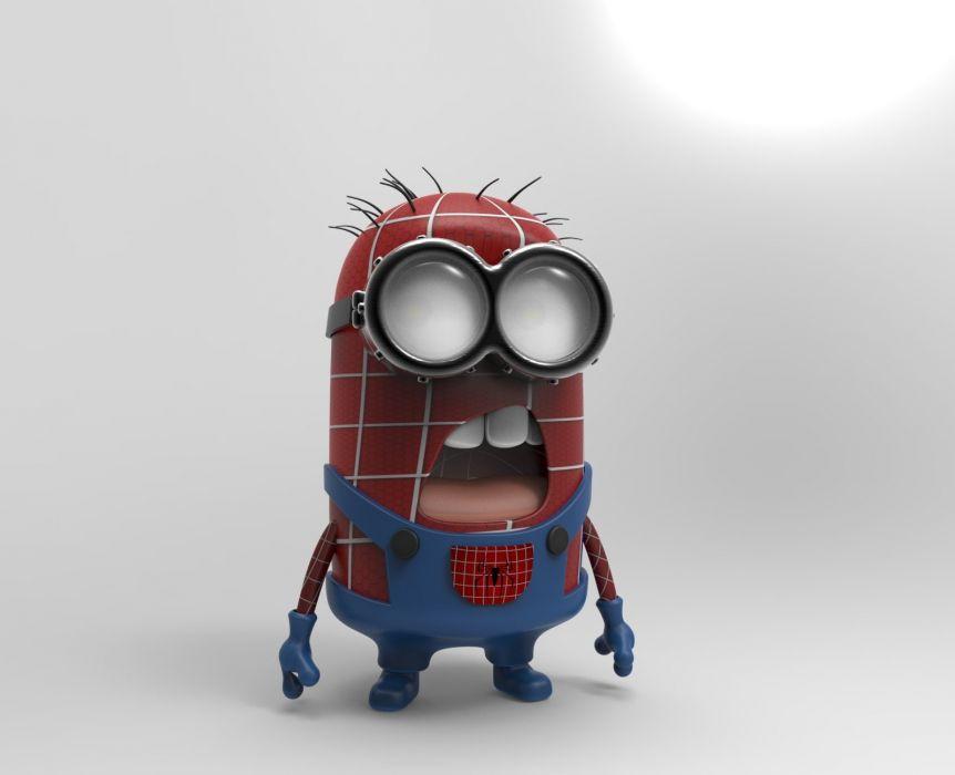 SPIDER MAN Superhero Marvel Spider Man Action Spiderman Minions Wallpaper