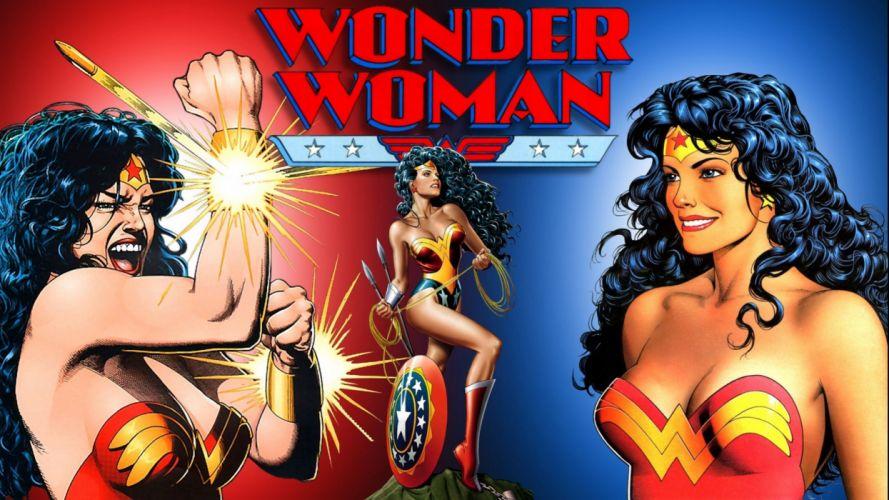 WONDER WOMAN superhero girl sexy babe girls poster wallpaper