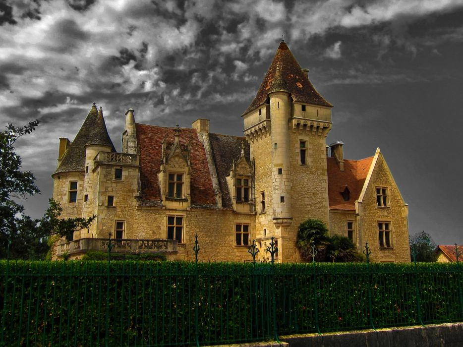 castillo certudiena francia wallpaper