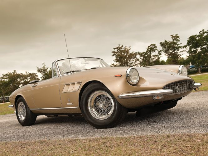 Ferrari 330 GTS coupe cars 1966 wallpaper