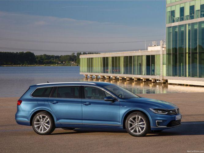 Volkswagen Passat GTE 2015 wagon cars electric wallpaper