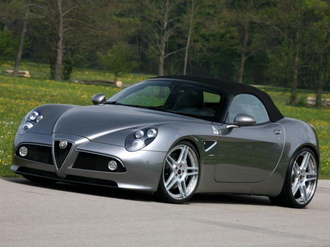 Novitec Alfa Romeo-8C Spider cars modified 2011 wallpaper