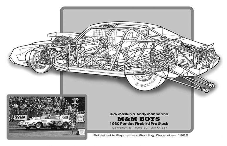 1980 Pontiac Firebird Pro Stock Drag Cutaway USA -01 wallpaper