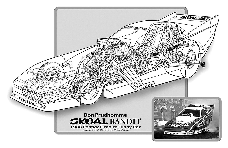 1988 Pontiac Firebird Funny Car Drag Cutaway Usa 01