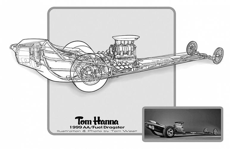 1999 Top Fuel Dragster Drag Cutaway USA -01 wallpaper