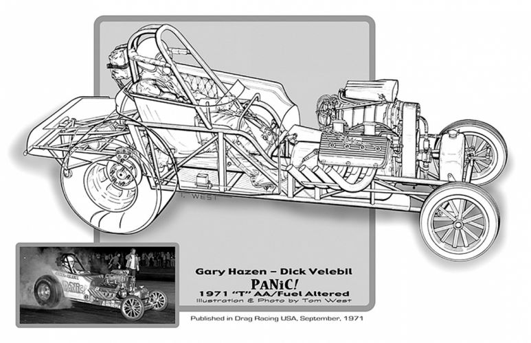 1927 Ford Mode-T AA Fuel Altered Drag USA -01 wallpaper
