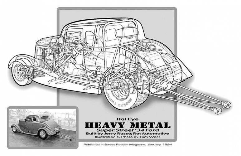 1934 Ford Five Window Super Street Cutaway USA -01 wallpaper