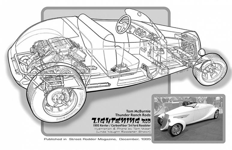 1934 Ford Roadster Streetrod Street Rod Hot Cutaway USA -01 wallpaper