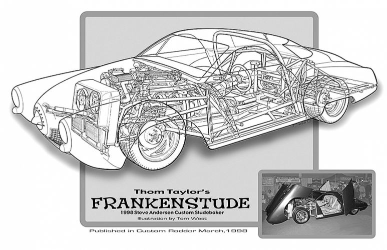 1950 Studebaker Custom Frankenstude Cutaway USA -01 wallpaper
