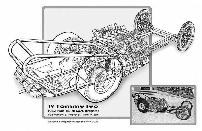 1962 Twin Buick AA-G Dragster Drag Cutaway USA -01 wallpaper