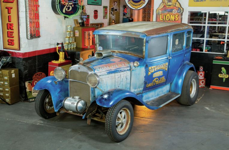 1930 Ford Tudor Four Door Model-A Super Stock Drag Race Vintage USA -02 wallpaper