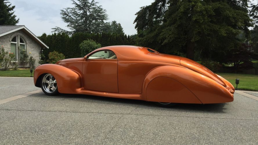 1939 Lincoln Zephyr Coupe Chopped top Street Rod Hot Custom Low USA -02 wallpaper