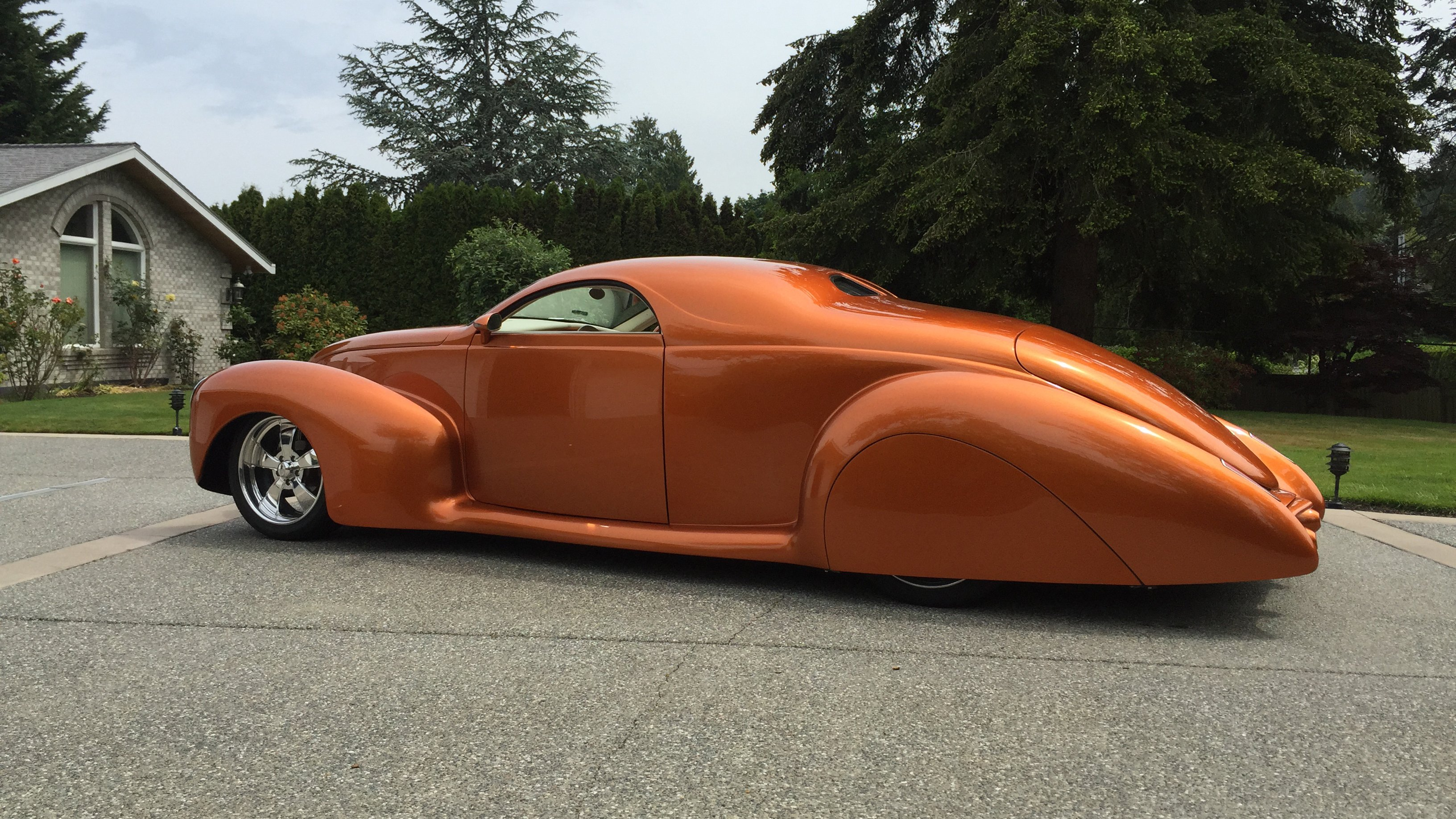 1939 Lincoln Zephyr Coupe Chopped top Street Rod Hot Custom Low USA ...