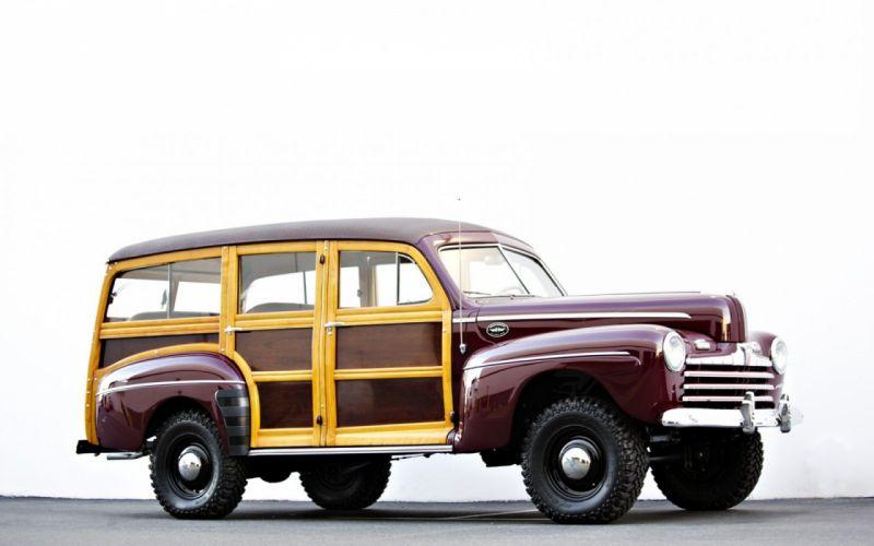 1946 Ford Marmon Herrington Woodie Wagon 4x4 Classic Old Vintage USA -1600x1000 wallpaper