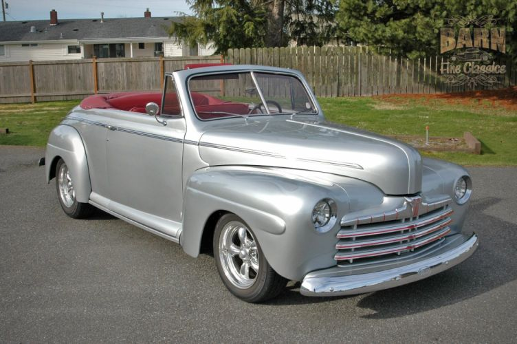 1946 Ford Deluxe Convertible Hotrod Streetrod Hot Rod Street USA 1500x1000-19 wallpaper