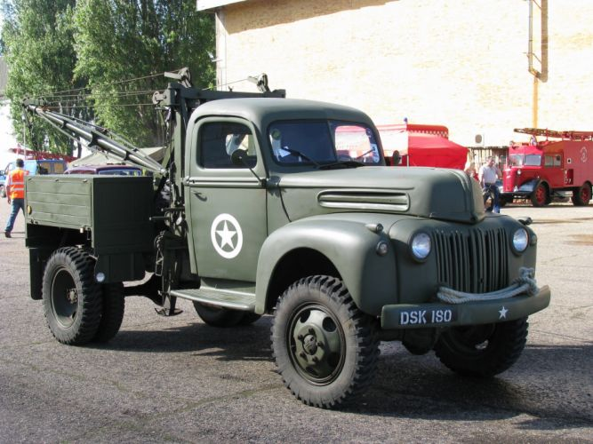 1946 Ford Truck Military Classic Old Converted M-H USA 2048x1536-01 wallpaper