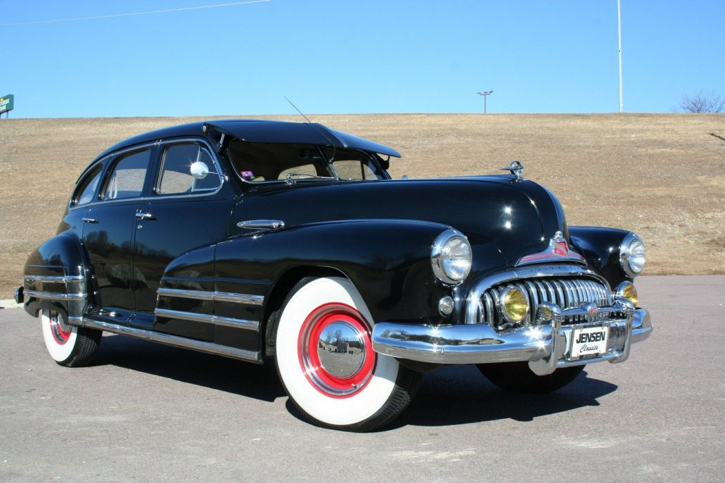 1947 Buick Special Sedan 4 Door Black Classic Old Vintage USA 1728x1152-05 wallpaper