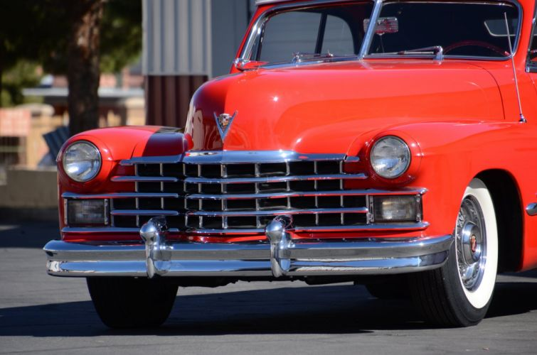 1947 Cadillac Serie 63 Convertible Classic Old Vintage Retro Red USA 2400x1590-01 wallpaper