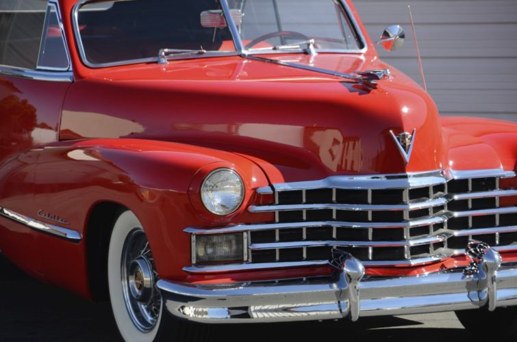 1947 Cadillac Serie 63 Convertible Classic Old Vintage Retro Red USA 2400x1590-04 wallpaper