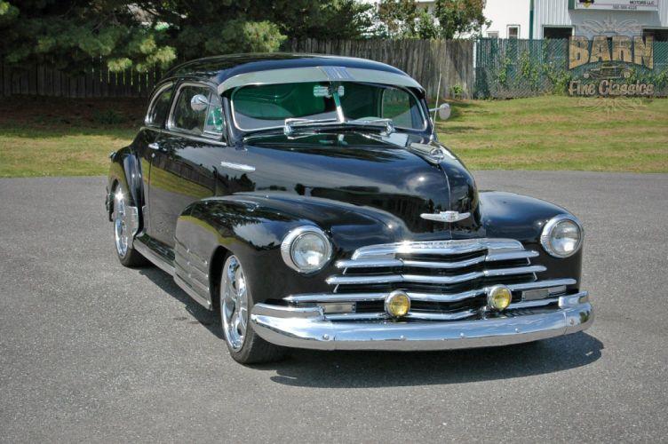1947 Chevy Chevrolet Fleetline Hotrod Streetrod Hot Rod Street USA 1500x1000-06 wallpaper