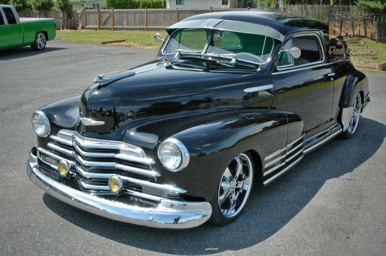 1947 Chevy Chevrolet Fleetline Hotrod Streetrod Hot Rod Street USA 1500x1000-08 wallpaper