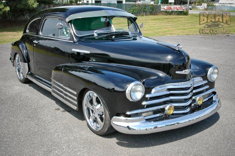 1947 Chevy Chevrolet Fleetline Hotrod Streetrod Hot Rod Street USA 1500x1000-17 wallpaper