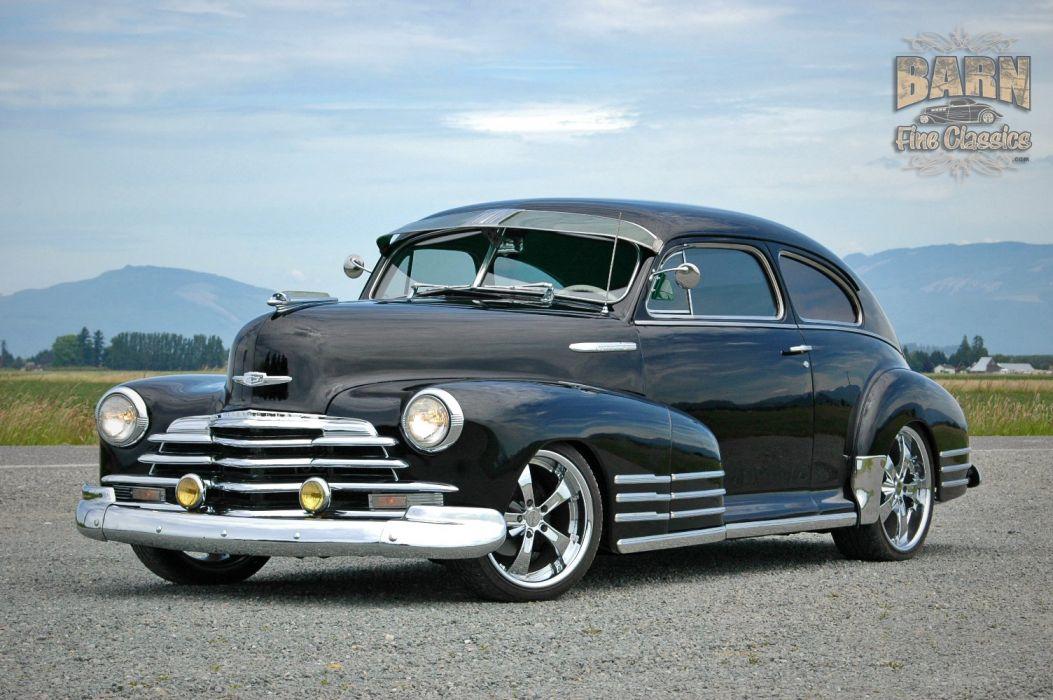 1947 Chevy Chevrolet Fleetline Hotrod Streetrod Hot Rod Street USA 1500x1000-23 wallpaper