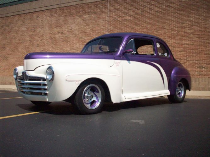 1947 Ford Deluxe Coupe Hotrod Streetrod Hot Rod Street USA 3056x2292-02 wallpaper