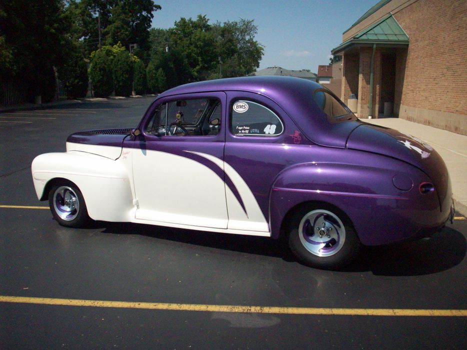 1947 Ford Deluxe Coupe Hotrod Streetrod Hot Rod Street USA 3056x2292-07 wallpaper