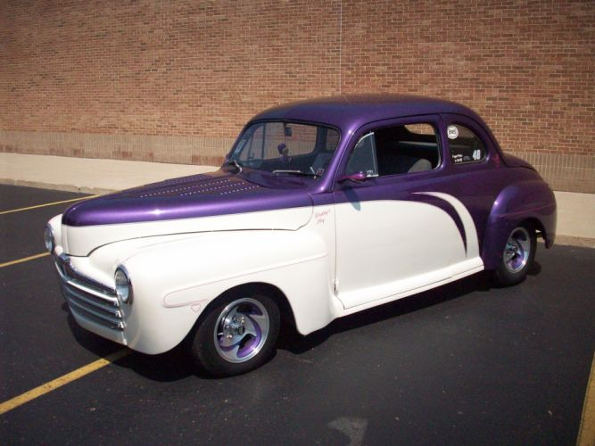 1947 Ford Deluxe Coupe Hotrod Streetrod Hot Rod Street USA 3056x2292-08 wallpaper
