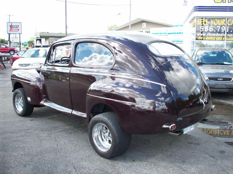 1947 Ford Deluxe Tudor Sedan Two Door Hotrod Streetrod Hot Rod Street USA 3056x2292-05 wallpaper
