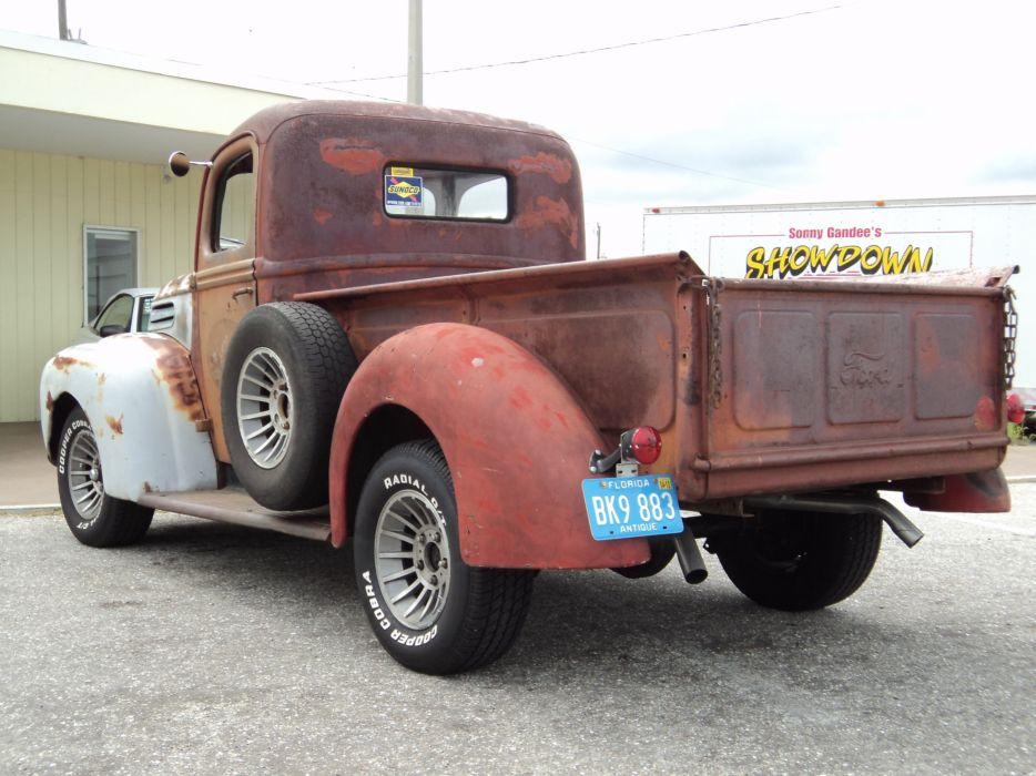 1947 Ford F100 Pickup Ratrod Hotrod Rat Rod Hot USA 2592x1944-04 wallpaper