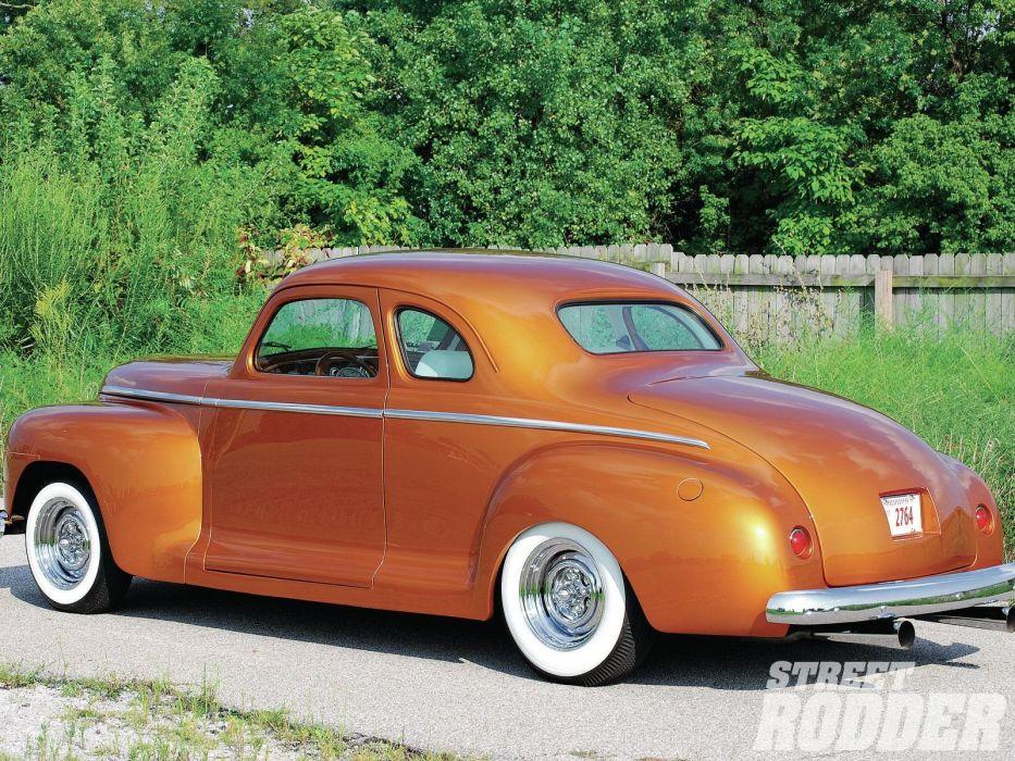 1947 Plymouth Coupe Hotrod Hot Rod Custom Kustom USA 1600x1200-02 wallpaper