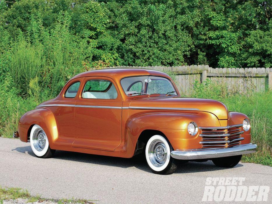 1947 Plymouth Coupe Hotrod Hot Rod Custom Kustom USA 1600x1200-01 wallpaper