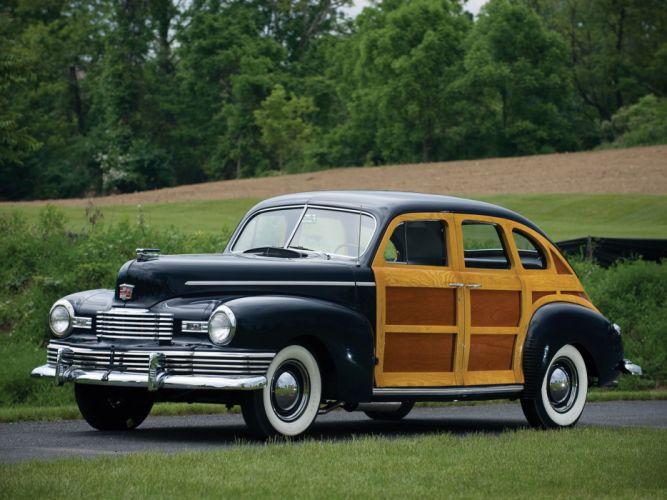 1947 Nash Ambassador Suburban Woodie Sedan 4 Door Classic Old Vintage USA 2048x1536 01 wallpaper