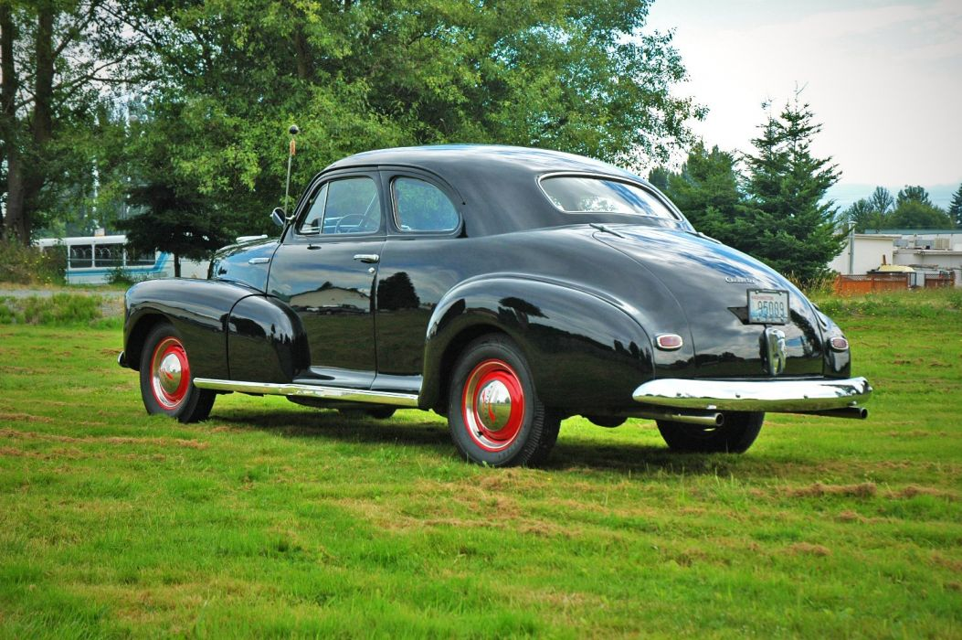 1948 Chevrolet Chevy Fleetmaster Coupe Classic Old Vintage USA 1500x1000-05 wallpaper